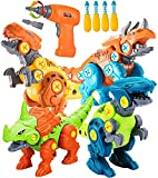 STAY GENT Dinosaurio Juguetes para Niños con Taladro Eléctrico, 4 Packs DIY Dinosaurio Educativo Stem Juguetes, Dinosaurio Juguetes para 3-7 Años El Viejo Chicos y Chicas