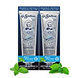 Dr. Sheffield's Certified Natural Toothpaste (Peppermint) - Great Tasting, Fluoride Free Toothpaste/Freshen Your Breath, Whiten Your Teeth, Reduce Plaque (2-Pack)