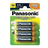 Panasonic Accu Power 2600mAh (4 Pack) Hybrides Nickel-métal (NiMH) 2600mAh 1.2V...