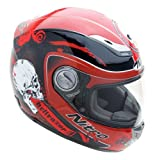 Nitro Hellrazor Full Face Helmet (Red/Black, Large)