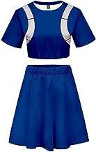 My Hero Academia Cosplay Cheerleader Crop Top Dress Skirt Shirt Two-Piece Suit