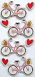 Rössler - Pegatinas para Bicicleta con Corazón, 4 Piezas
