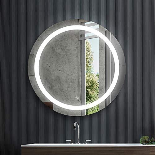 Spiegel - Smart Led Badkamer, Wandmontage Rond Achterlicht, Explosiebestendig, Vochtbestendig