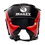 MaxIT Head Gear for Boxing, MMA, Muay Thai, Karate, Martial Arts   Heavy Duty Professional Protective Headgear is Comfortable, Breathable & Adjustable   Perfect Choice for