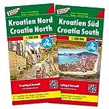 Kroatien Nord und Süd, Autokarten Set 1:200.000 (freytag & berndt Auto + Freizeitkarten): Set wegenkaarten 1:150 000