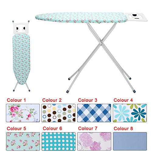 KingSaid Ironing Board Adjustable Ironing Board Step Hight with Steam...