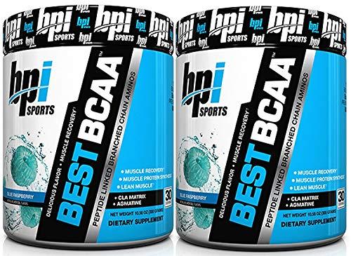 BPI Best BCAA Blue Raspberry -- 30 Servings - 2pc