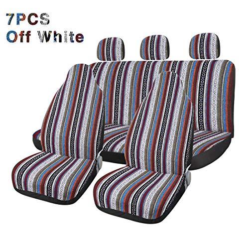 Happy Shop Funda Asiento Coche Car Seat Covers Set Baja Saddle Blanket Armadura Universal Fit mayora de los Coches se Cubre con la Cubierta de Rueda de direccin del Protector Protector