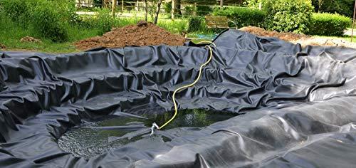 Teichfolie Gartenteichfolie 1,0mm schwarz Folie für den Gartenteich Teichbau verschiedene Abmaße … (1m lang, schwarz 2m breit) - 7