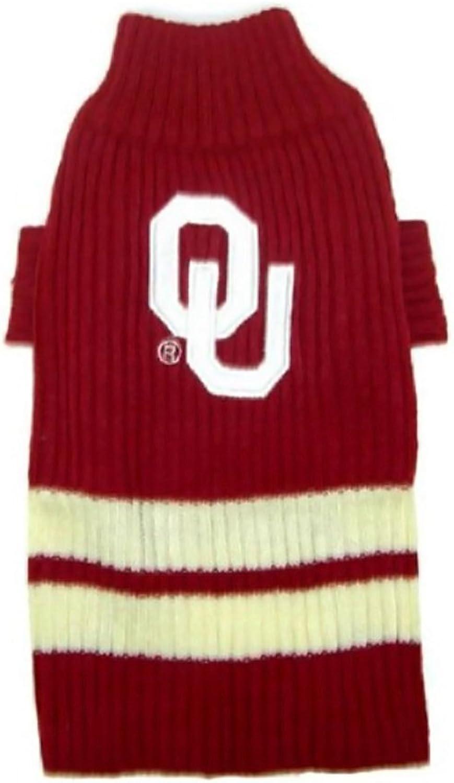 Pets First Sports Fan NCAA Oklahoma Sooners Dog Sweater Xtra Small