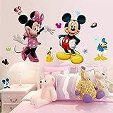 Wandtattoo Kinderzimmer Mickey Mouse Minnie Maus Junge Mädchen Disney Wandaufkleber Wandsticker Babyzimmer Deko Poster Wandbild Aufkleber Schlafzimmer