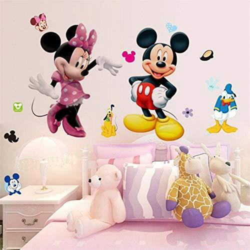 Graz Design - Adhesivo decorativo para pared, diseño de Mickey Mouse y Minnie Mouse