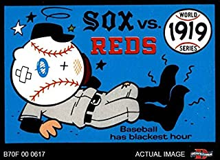 1970 Fleer World Series # 16 1919 Reds vs. White Sox Cincinnati/Chicago Reds/WhiteSox (Baseball Card) Dean's Cards 6 - EX/MT Reds/WhiteSox