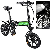 RDJM Bici electrica E-Bici, E-MTB, 36V 7.8Ah Bicicleta eléctrica for Adultos Hombres Mujeres Mountain Bike Plegable 250W Velocidad máxima 25 kilometros/H de Carga máxima 120Kg