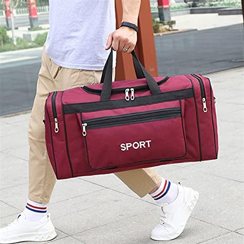 TIANCHE Borsa Sportiva Borse da Palestra Grande capacità Uomini Sport Uomini Fitness Gadgets Yoga Palestra Sack Palestra Pacchetto for Allenamento borsoni da Viaggio (Color : Red)
