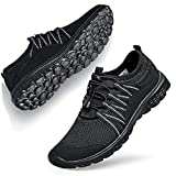 Womens Sneakers Walking Shoes for Women Shoes Breathable Slip on Work Nursing Casual Athletic Gym Workout Shoes for Walking Jogging Yoga All Black 8 M US