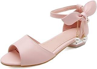 BalaMasa Womens ASL06373 Pu Block Heels