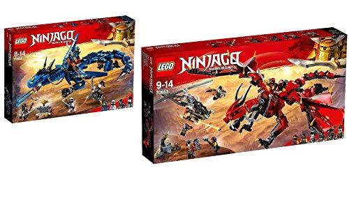 Steinchenwelt LEGO NINJAGO 2er Set: 70652 Blitzdrache + 70653 Mutter der Drachen