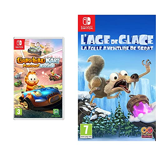 Garfield Kart Furious Racing pour Nintendo Switch & L'Âge de Glace : La Folle Aventure de Scrat pour Nintendo Switch
