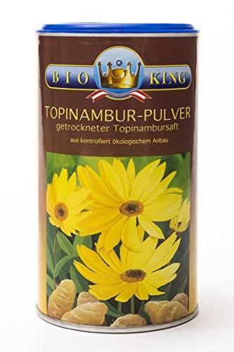 BioKing 2x 175g Bio TOPINAMBUR-Pulver, getrockneter Topinambursaft: Bio Inulin, Präbiotikum (EUR 5,90 / Dose)