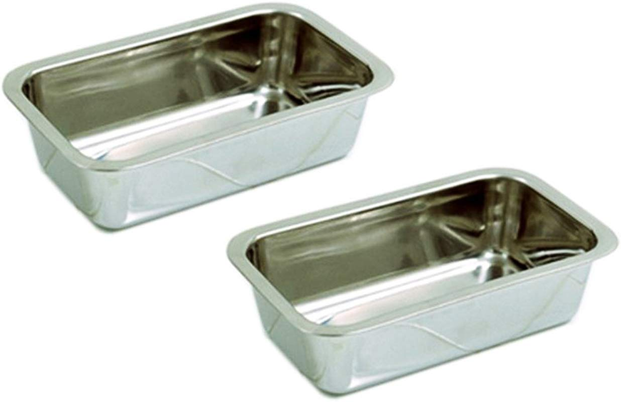Happy Sales HSB SSL2 Stainless Steel 8 5 Inch Loaf Pan Set Of 2
