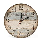 LOHAS Home 30cm Retro Wall Clock Vintage Decor Silent Non Ticking Orologi al Quarzo