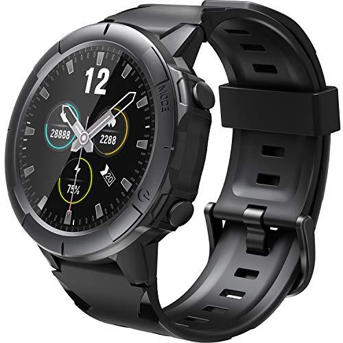 Arbily Smartwatch, Fitness Tracker voll Touchscreen, IP68 Wasserdicht Fitnessband mit Herzfrequenzmesser, Schlafmonitor, Schwimmfest, Schrittzähler, Stoppuhr und Time für Herren Junge iOS Android