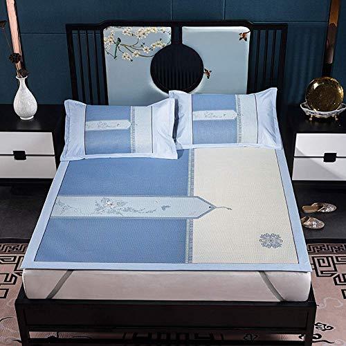 FGDSA Faltbares Rattan Cooling Summer Sleeping Luxus Blumenstickerei Matratze Overlay...