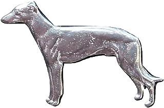 Zinn von William Sturt Hund Brosche Handgefertigt Barsoi Brosche aus Deutsche Zinn Zinn Brosche
