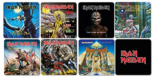 Unbekannt Iron Maiden – Dessous-de-Plat Coaster Lot de 8 – Best of Mix