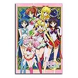 Trelemek Impresión sobre lienzo eterno de Sailor Moon para decoración de pared de 40,6 x 60,9 cm, película de anime Usagi Chibiusa, póster para decoración del hogar, sin marco