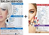 Salon Posters   Price List for Beauty Salon and Nail Salon in A Combo   Already Laminated