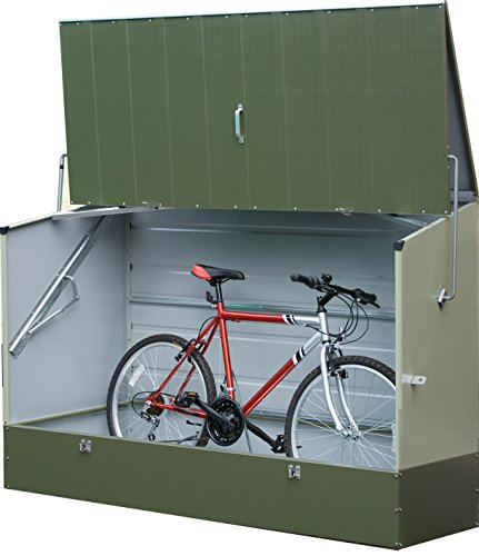 Trimetals Almacenamiento de Bicicleta/Ciclo Locker–Bicicleta Store–Verde versión