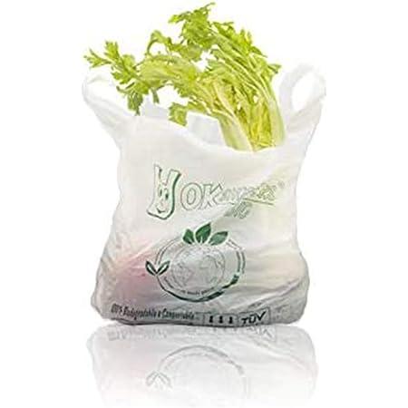 VIRSUS Palucart Shopper biodegradabili compostabili 24+6+6x40 da 500 Pezzi. Buste Spesa biodegradabili, Sacchetti per Raccolta Umido (24+6+6X40)