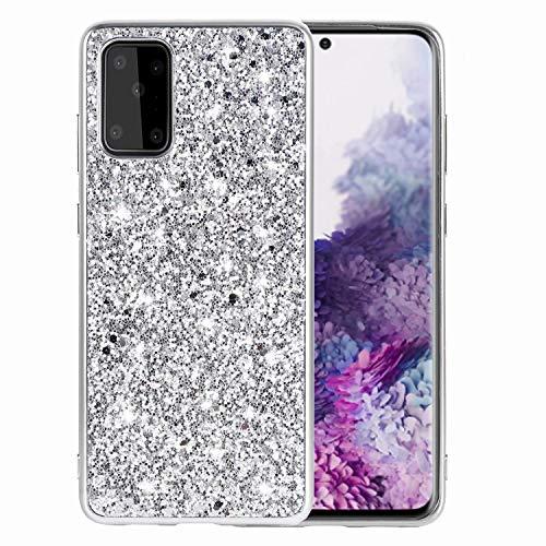 Miagon Glitzer Hülle für Samsung Galaxy A41,Überzug Rahmen Stoßfest Glänzend Bling Ultra Schlank Weich Silicone Schutz Case Handyhülle Schutzhülle