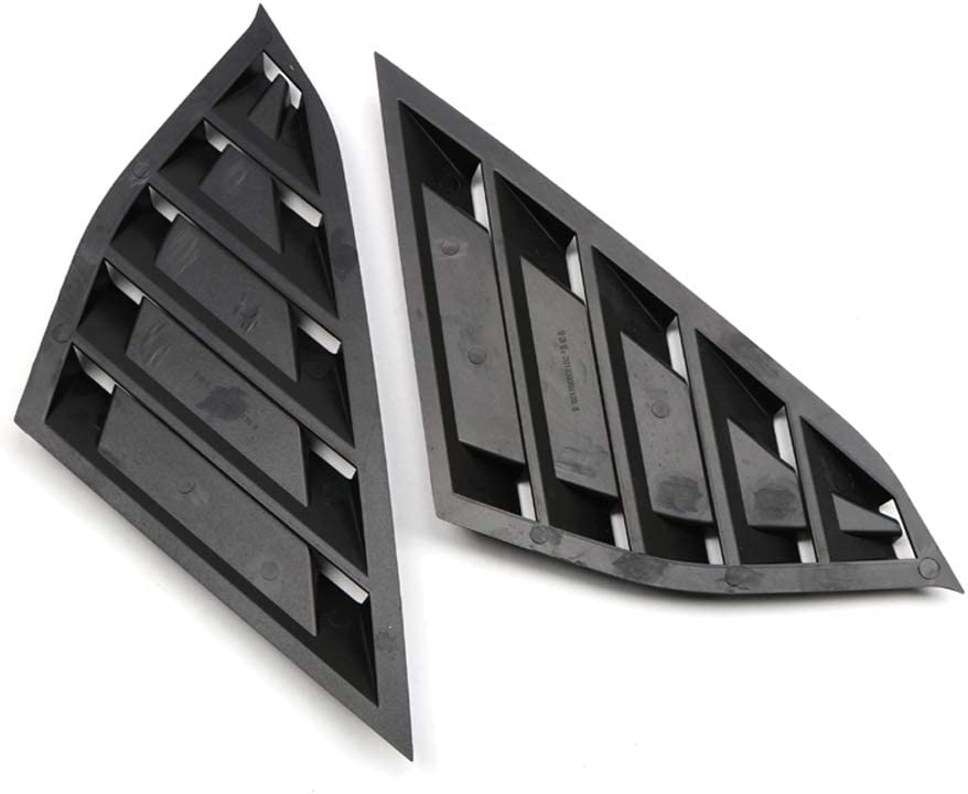 YUZHONGTIAN 2018-2020 for Honda Accord Window Scoop Louvers Cover ABS 2PCS Glossy Black
