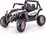 Kids 24V Ride On Truck w/ Parent Remote Control, 3 Speeds, LED Lights, Rubber eva Tiers