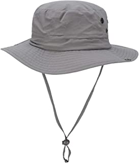 ZXH77f-Fashion hat Packable Wide Brim Sun Hats,Summer Womens Bucket Hat, Women Outdoor Sunhat,Chin Strap Adjustable (Color : Gray)