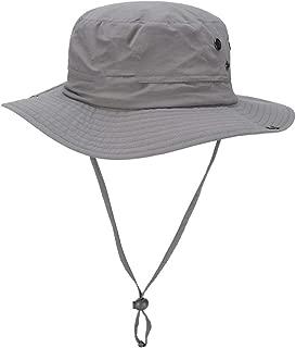 ZRL77y Packable Wide Brim Sun Hats,Summer Womens Bucket Hat, Women Outdoor Sunhat,Chin Strap Adjustable (Color : Gray)