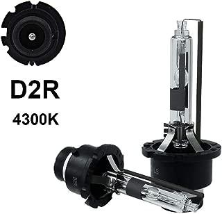 D2R - 4300K - 35WXenonHIDHeadlightReplacementBulbs, Dinghang HighAndLowBeamHidHeadlights(2pcs) (D2R,  4300K)