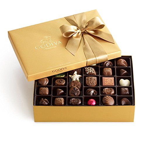 Godiva Chocolatier Assorted Chocolate Classic Gold Ballotin Gift Box