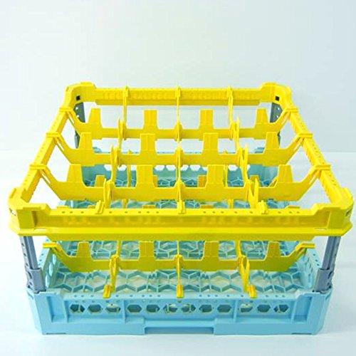 Wasmand 50 x 50 cm industrieel genus voor 16 glazen Kit3 4 x 4 TOP geel
