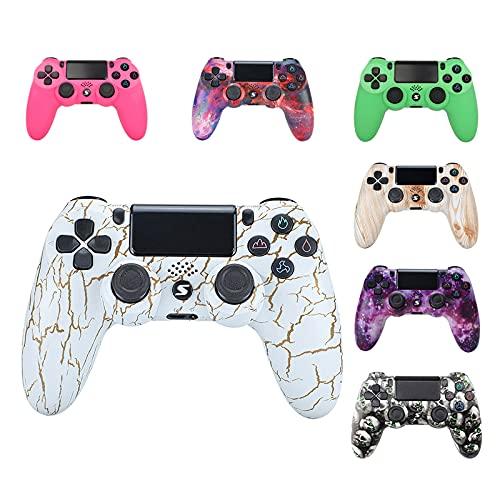 Wireless Controller, USB Controller für PC P-S-4 Slim/P-S-4 Pro, Bluetooth Remote Joypad Gamepad, mit Dual-Vibration sechsachsigem Wireless Gamepad Dual Vibration Gaming Controller