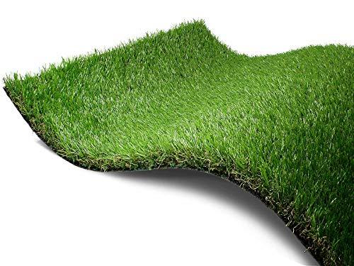 Kunstrasen Rasen-Teppich Meterware - FORESTLAND, 2,00m x 2,00m, Hochwertiger, UV-Beständiger, Wasserdurchlässiger Outdoor Bodenbelag für Balkon, Terrasse und Garten
