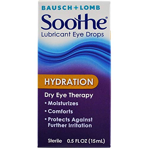 Bausch + Lomb Soothe Lubricant Eye Drops, Hydration - 0.5 oz, Pack of 3