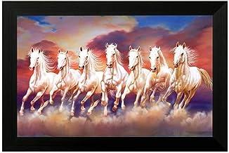 Airxcn Running Horse Galloping 5 Panel Leinwand Wandkunst Home Wohnzimmer Dekor Poster HD Print