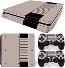 GoldenDeal PS4 Slim Console and DualShock 4 Controller Skin Set - Retro Game - PlayStation 4 Slim