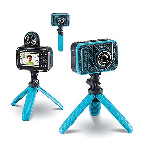 VTech - Kidizoom VideoStudio HD, cámara de Fotos y vídeo para niños, CREA Tus propias imágenes con Efectos Especiales, Marcos, etc. Tela Verde de Fondo incluida, Multicolor, versión ESP (80-531887)