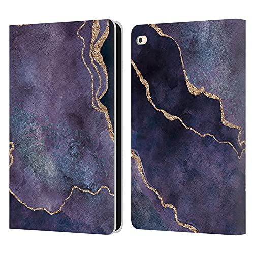 Head Case Designs Officially Licensed LebensArt Purple Mineral Marble Leather Book Wallet Case Cover Compatible With Apple iPad Air 2 (2014)