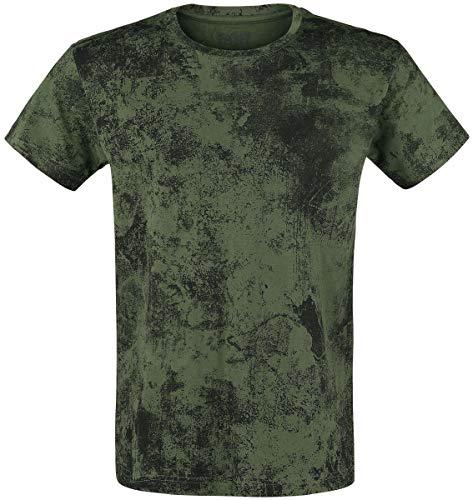 Black Premium by EMP Rebel Soul Homme T-Shirt Manches Courtes Vert M
